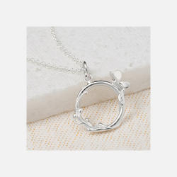 Lily/charmed 银色蝴蝶环项链 (英国直邮/包邮包税)