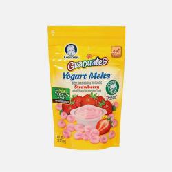 【包邮包税】美国Gerber嘉宝草莓味酸奶溶豆28g宝宝辅食