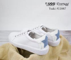 【包邮包税新西兰直邮】EVER UGG Yuki  2018春夏爆款 澳洲纯羊皮星星板鞋 小白鞋
