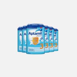 Aptamil 德国爱他美 婴儿奶粉 3段 800g*6罐 10-12个月 有效期2019年4