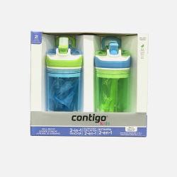 Contigo/康迪克 儿童吸管防漏零食随手鸭嘴二用水杯2个装 (美国直邮/包邮包税)