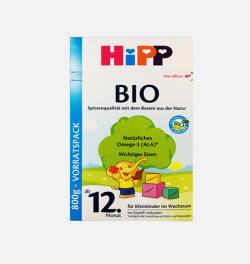 德国直邮 HIPP BIO喜宝有机婴儿奶粉 12+(12个月以上)800g 【包邮包税】