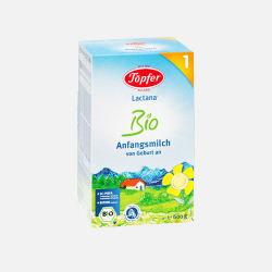 德国直邮  德国Topfer特福芬有机奶粉1段( 0-6个月 )600g盒装【包邮包税】