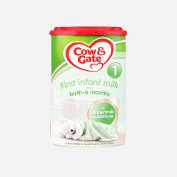 Cow Gate/牛栏 奶粉1段 0-6个月 800g 4罐装 (英国直邮/包邮包税)   新老包装 随机发货