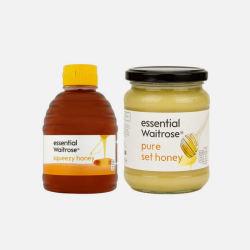 英国直邮【包邮包税】Waitrose 蜂蜜组合:纯清澈蜂蜜挤压罐装 454g*1瓶 + 纯结晶蜂蜜玻璃罐装 454g*1瓶
