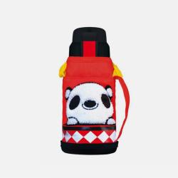 韩国BEDDYBEAR杯具熊 复古儿童保温杯带吸管宝宝水杯男女学生杯套不锈钢杯子 600ML