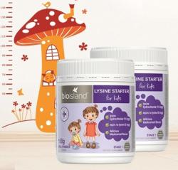 2瓶包邮包税澳洲直邮Bio Island 赖氨酸粉剂婴幼儿童黄金助长素1段 0-5岁适用 150g *2