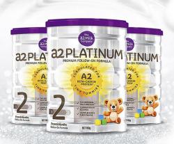A2白金系列婴幼儿奶粉2段900g【3罐】包邮包税澳洲直邮