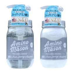 AMINO MASON 清爽型牛油果氨基酸无硅油洗发护发 450ML组合装