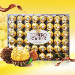 Ferrero Rocher/费列罗 榛果威化巧克力 48粒 (美国直邮 包邮包税)