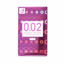 OKAMOTO/冈本 0.02薄度均一避孕套安全套 粉色 6只