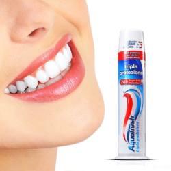 AQUAFRESH 直立按压式三色牙膏 四件装(包邮包税)