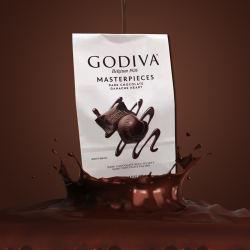 Godiva/歌帝梵 心形夹心黑巧克力 415g(美国直邮/包邮包税)