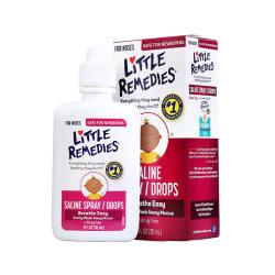 美国 LITTLE REMEDIES 海盐水婴儿滴鼻剂 30ML*5件(包邮包税)