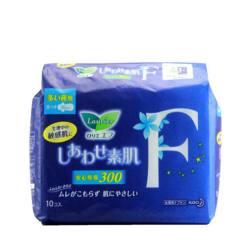 日本 LAURÍER/乐而雅 F系列卫生巾 量多夜用 带护翼 30CM*10片(完税仓包邮发货)