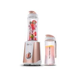 SKG 榨汁机迷你家用多功能小型便携式电动榨汁杯果汁机2107 玫瑰金(完税仓包邮发货)