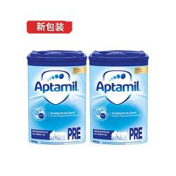 德国Aptamil/爱他美 蓝版婴儿奶粉 Pre段(0-3个月)800g*2罐 新包装 (德国直邮/包邮包税)