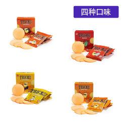 印尼德力 薄脆饼干4盒(原味+烧烤味+咖喱味+泡菜味)20G*4袋(包邮发货)