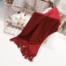 澳大利亚IZR UGG 1号酒红色围巾 尺寸200*70cm 25%羊绒(香港直邮)