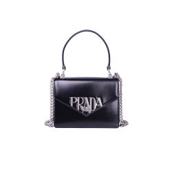 Prada 普拉达 女士黑色单肩包 1BA187-ZO6-F0002-V-OLO(香港直邮)