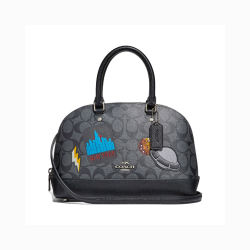 Coach 蔻驰 女士黑色单肩斜跨手提贝壳包 F29618SVDK6(香港直邮)