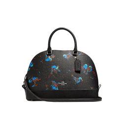 Coach 蔻驰 SIERRA系列黑色涂层帆布女士手提包 F23456SVM2(香港直邮)