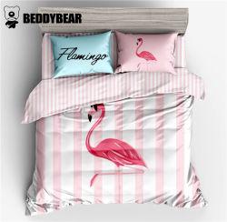 韩国杯具熊 BeddyBear 火烈鸟款床上用品四件套小号 适用于1.2米的床(完税仓包邮发货)