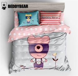 韩国杯具熊 BeddyBear 小熊款床上用品四件套大号 适用于1.5/1.8米的床(完税仓包邮发货)