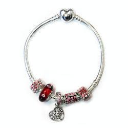潘多拉 Pandora 粉色回忆手串 5个珠子+一个手链 澳洲直邮 包邮包税
