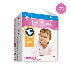 狮子座天使(Leo Angel) 超薄透气干爽绵柔纸尿裤 S70(3-8kg)婴儿尿不湿英国原装进口