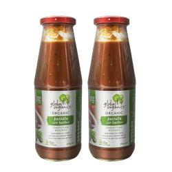 【2件装】Global Organics 有机罗勒番茄沙司 680g/瓶 澳洲直邮 包邮包税