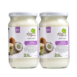 【2件装】Global Organics 有机精炼椰子油300g/瓶