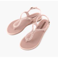 GRENDHA 通勤平底休闲街头夹趾 女凉鞋 粉色 尺寸可选