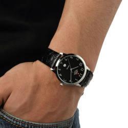 SWISS MILITARY 瑞士军表 超薄手表商务休闲男士腕表防水 8888.ST-111LBK