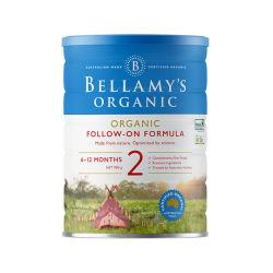澳洲直邮【包邮包税】Bellamy's贝拉米2段 有机婴儿牛奶粉(6个月以上)900g*6罐 (新包装)