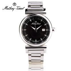 Mathey-Tissot 瑞士 时尚男士腕表 H410AN黑色钢带款