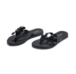 Zaxy 平底人字夹趾防水果冻拖鞋 黑色 尺寸可选