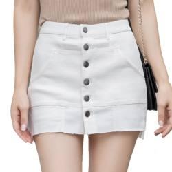 SP-68 魔术裤裙白色女半身裙中高腰裙包臀防走光K-QZ010