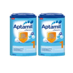【包邮包税 2罐】德国Aptamil爱他美婴幼儿配方奶粉1段(0-6个月 )800g*2罐 保质期2019年7月