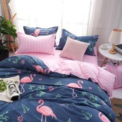 时尚家居家纺 芦荟棉磨毛四件套床上用品套装