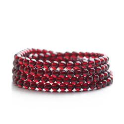 四福珠宝 5A级天然石榴石手链多圈串珠手串
