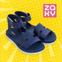 Zaxy 平底高帮宽搭带防水果冻凉鞋 蓝色 海外直邮 包邮包税 尺寸可选