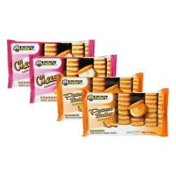 马来西亚茱蒂丝三明治夹心饼干组合(花生酱135g*2+乳酪125g*2)