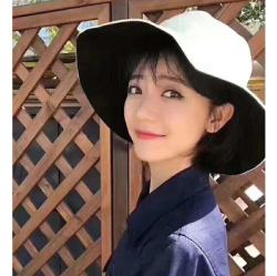 【大s同款】日本uvcut防晒帽太阳帽渔夫大帽檐遮脸户外遮阳防紫外线女 黑色+米色