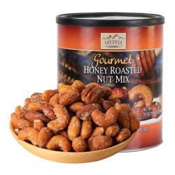 美国SAVANNA进口蜂蜜香烤混合坚果仁-红罐850g