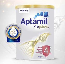 澳洲直邮【包邮包税】Aptamil爱他美白金版 婴儿牛奶粉4段 900g*3罐 新包装