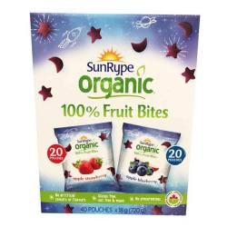 SunRype桑蕊 Organic有机水果果肉块内含蓝莓草莓两种口味 40包
