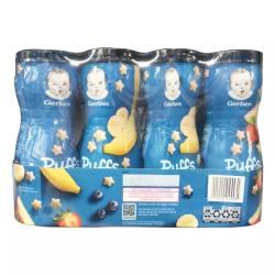 GERBER嘉宝 婴幼儿辅食星星泡芙草莓苹果香蕉口味 8瓶组合装