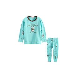 卡伴 蓝色龙猫春秋款儿童莱卡棉纯棉内衣套装(包邮)