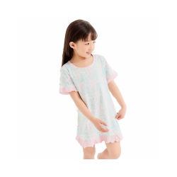 卡伴女童纯棉夏季短袖睡裙 满园春色粉(包邮)